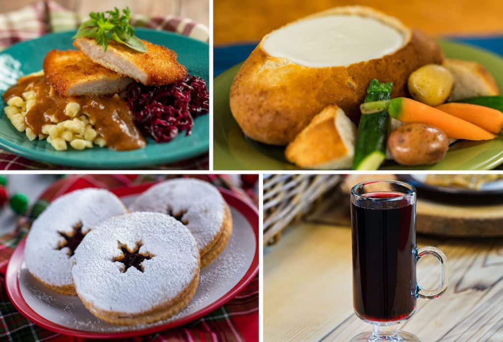 Offerings from Bavaria Holiday Kitchen at the 2020 Taste of Epcot International Festival of the Holidays