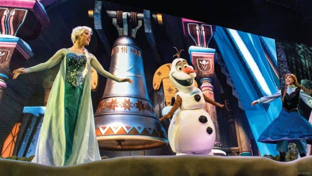 """Elsa, Olaf and Anna - """"For the First Time in Forever: A Frozen Sing-Along Celebration"""" at Disney's Hollywood Studios"""