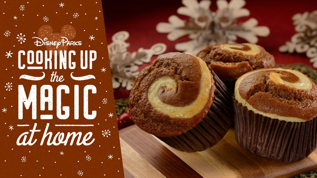 #DisneyMagicMoments: Cooking Up the Magic — Celebrate National Gingerbread Day With Our Gingerbread-Cream Cheese Muffin Recipe!