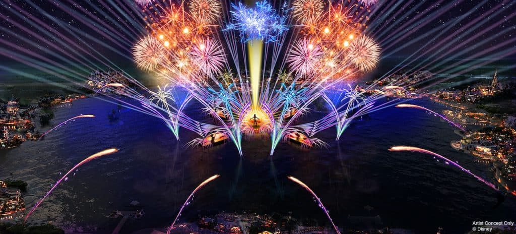 "In 2020, the new ""HarmonioUS"" will debut at Epcot as the largest nighttime spectacular ever created for a Disney park. It will celebrate how the music of Disney inspires people the world over, carrying them away harmoniously on a stream of familiar Disney tunes reinterpreted by a diverse group of artists from around the globe. ""HarmonioUS"" will feature massive floating set pieces, custom-built LED panels, choreographed moving fountains, lights, pyrotechnics, lasers and more."
