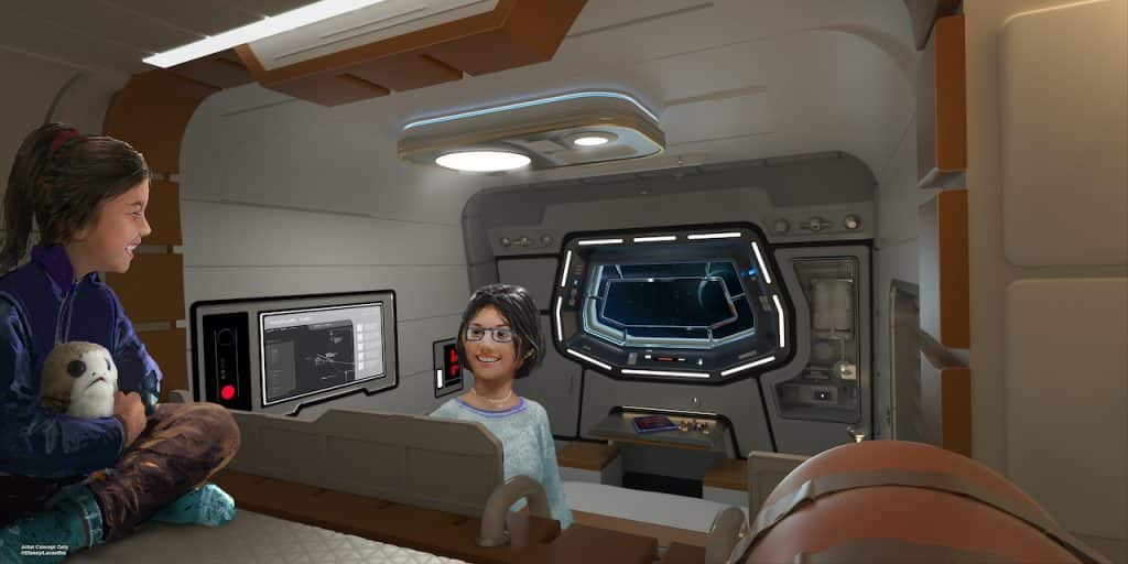 Rendering of  Star Wars: Galactic Starcruiser coming to Walt Disney World Resort