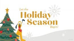 Holiday Season graphic with Pluto