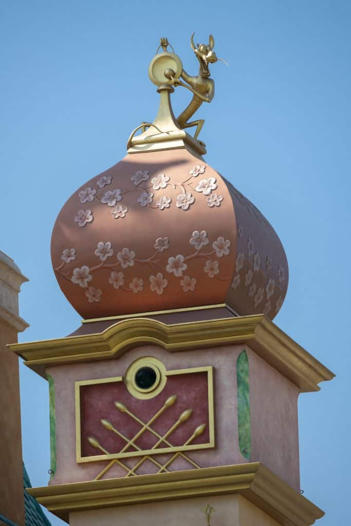 Detail of the new Castle of Magical Dreams at Hong Kong Disneyland