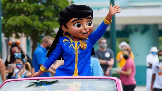 "Mira, star of the hit Disney Junior series ""Mira, Royal Detective,"" recently paid a visit to Walt Disney World Resort"