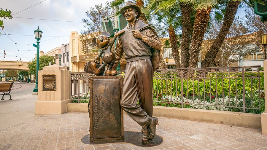 Storytellers statue at Disney California Adventure park