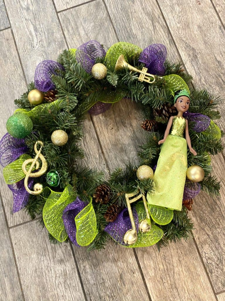 Tiana-inspired wreath