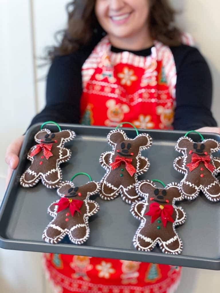 Complete DIY Gingerbread Mickey ornament