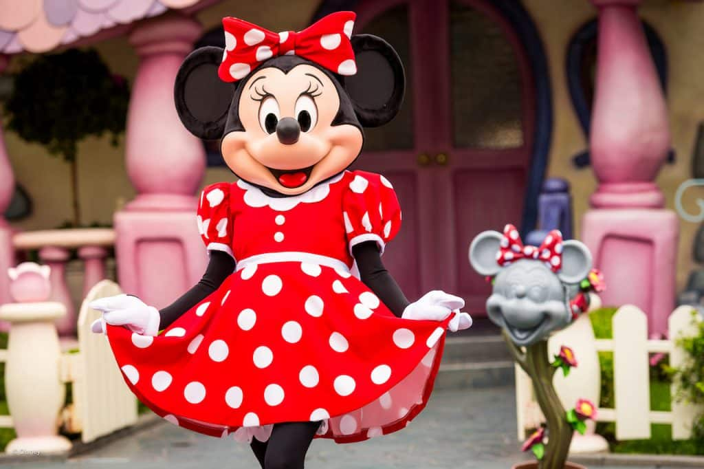 Minnie Mouse at Disneyland Resort