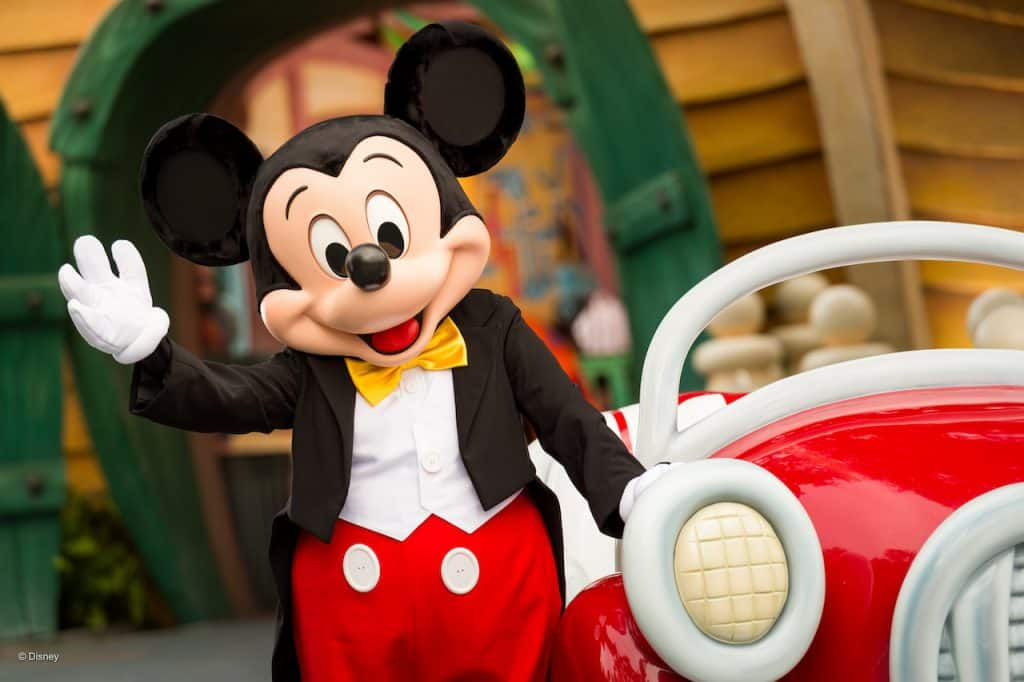 Mickey Mouse at Disneyland Resort