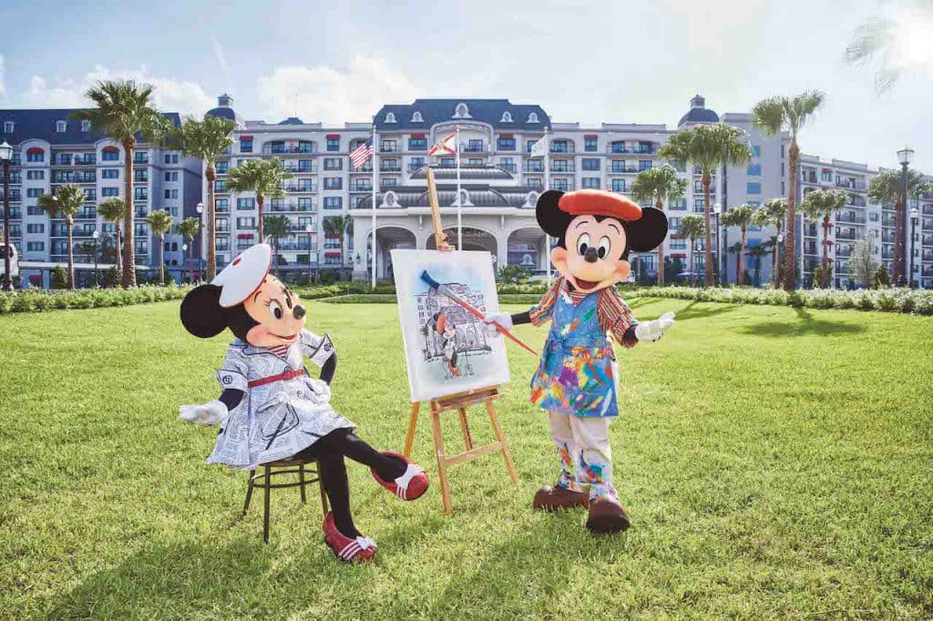 Mickey and Minnie Mouse at Disney's Riviera Resort at Walt Disney World Resort