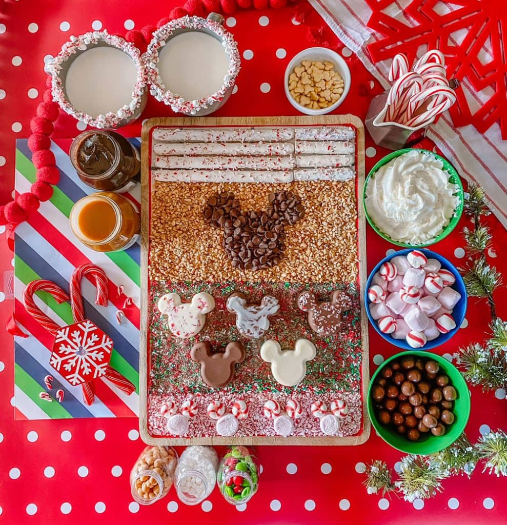 Magical Christmas Eve Hot Chocolate Board