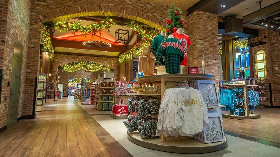 Holiday Merchandise Display at Disneyland Resort