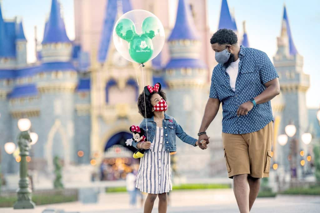 Father and daughter at Magic Kingdom Park