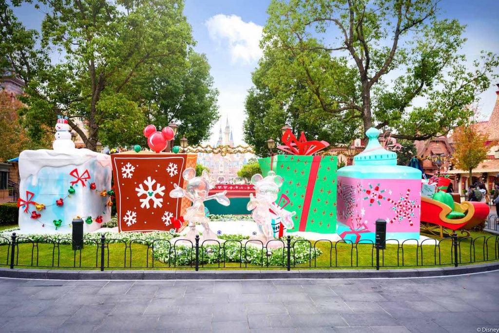 Holiday decorations at Shanghai Disney Resort