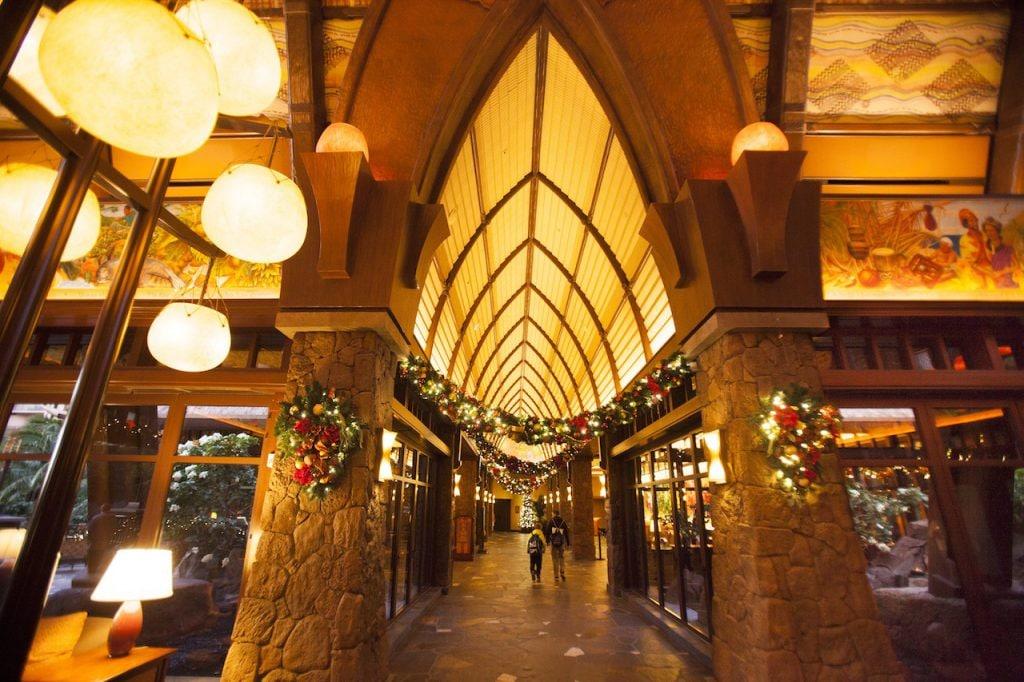 Holiday decorations at Aulani, A Disney Resort & Spa