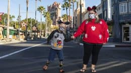 8-year-old Jackson DeLude and his mom, Ashley, at Disney's Hollywood Studios