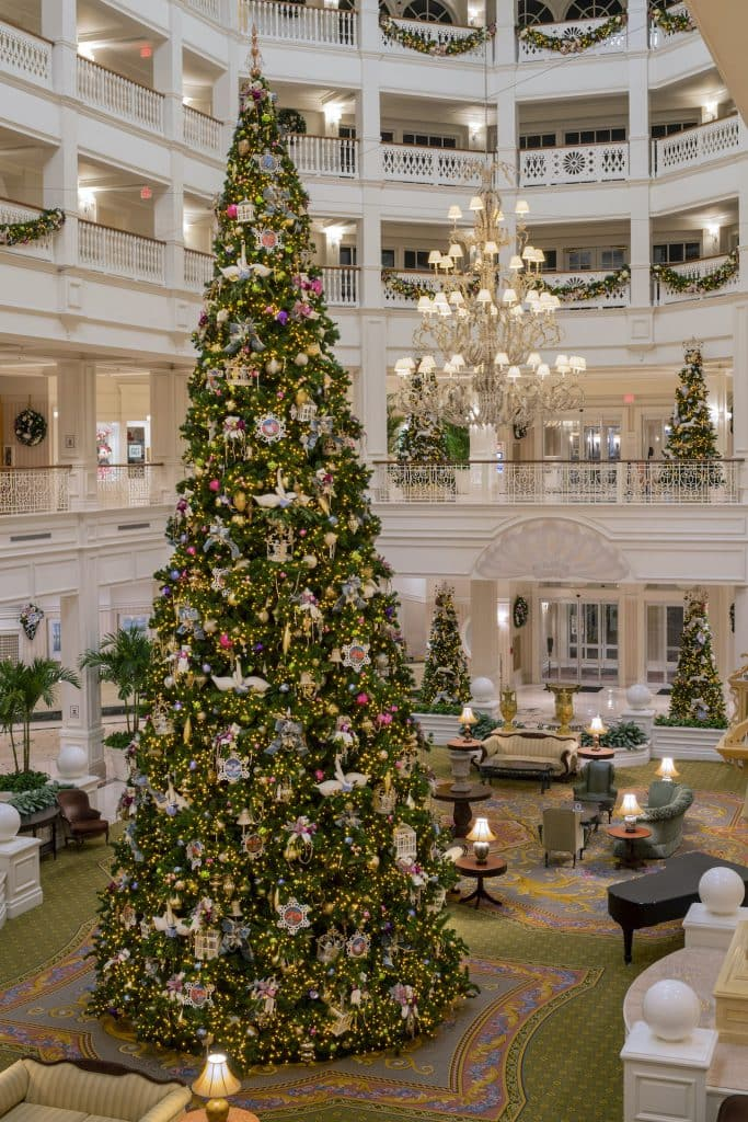 Holiday decorations at Disney's Grand Floridian Resort & Spa