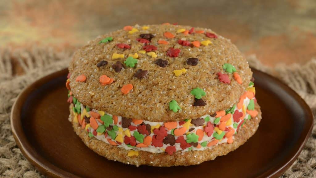 Pumpkin Cookie Ice Cream Sandwich from Disney's Animal Kingdom Theme Park