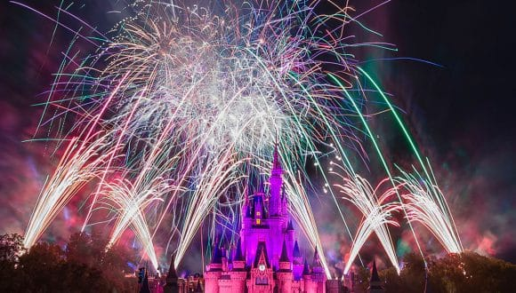 Fireworks at Magic Kingdom Park