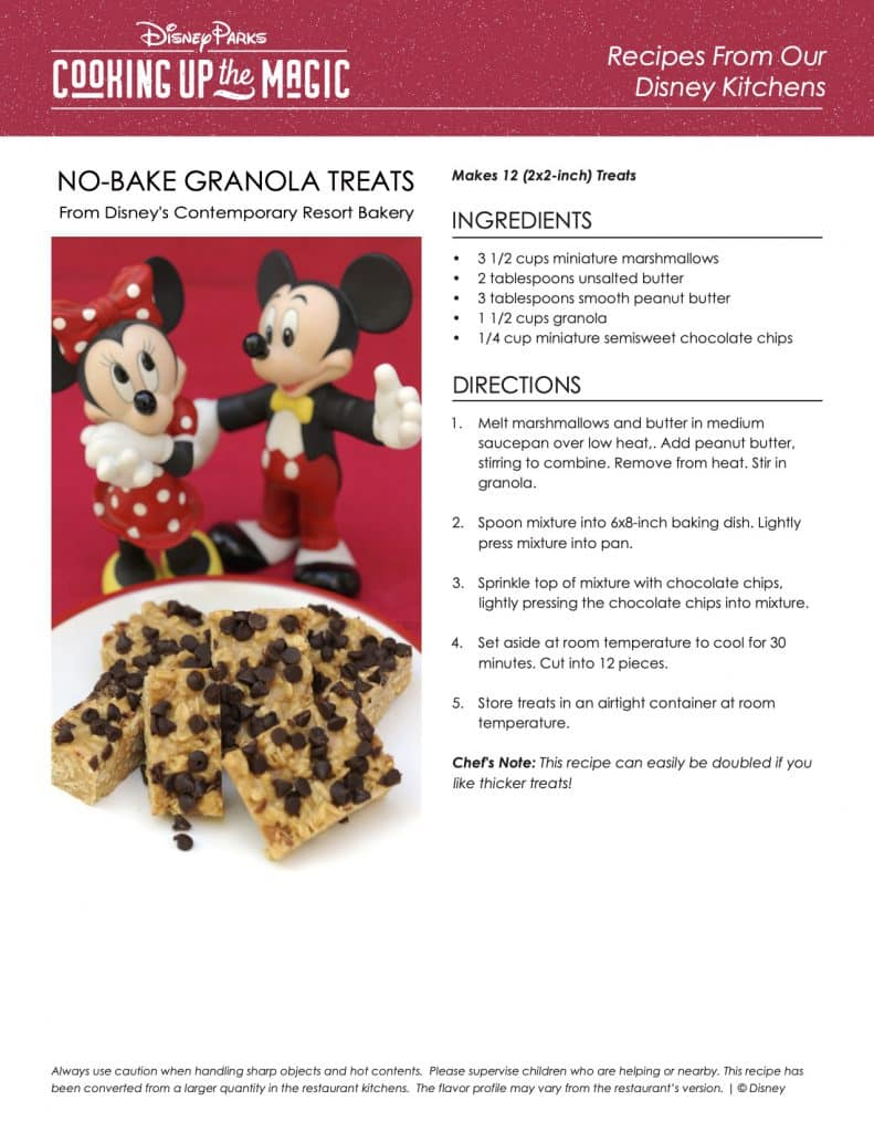 Cooking up the Magic: No-Bake Granola Treats from Disney's Contemporary Resort Bakery