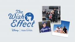 Graphic of wish kid Tali and her family
