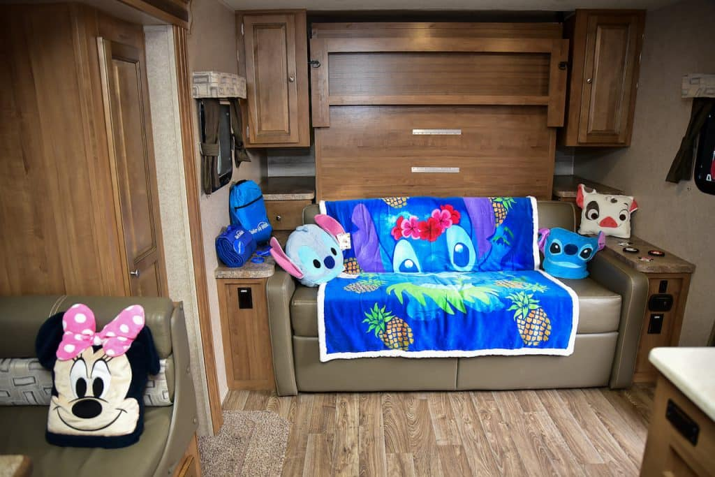 Inside of Wish kid Tali's Disney-themed RV