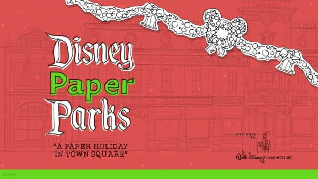 Disney Paper Parks Town Square at Disneyland park edition graphic