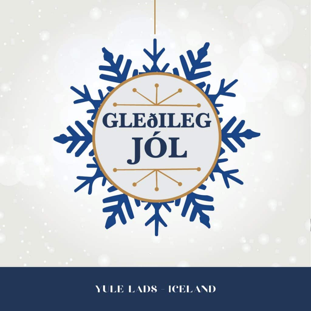 Happy holidays from Iceland graphic