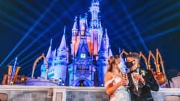Jordan Fisher and Ellie Woods Wedding Photo at Magic Kingdom Park