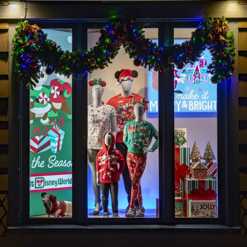 Window Displays Bring Holiday Magic to Walt Disney World Resort