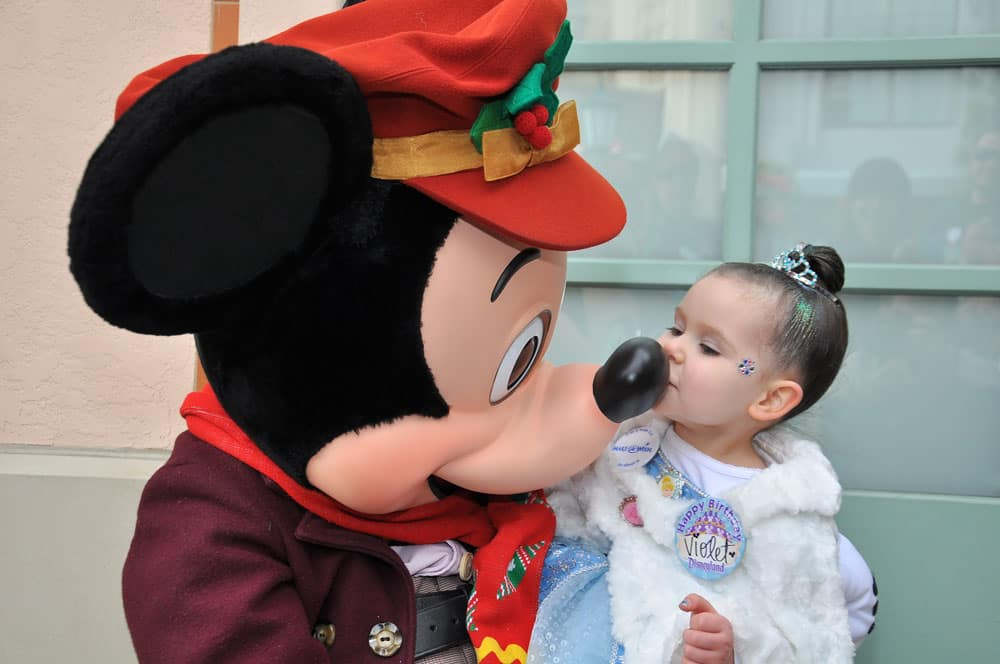 Violet and Mickey Mouse