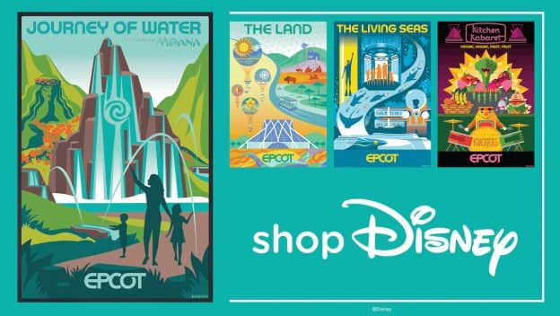 Screen Print Posters & Lithographs Inspired by EPCOT graphic
