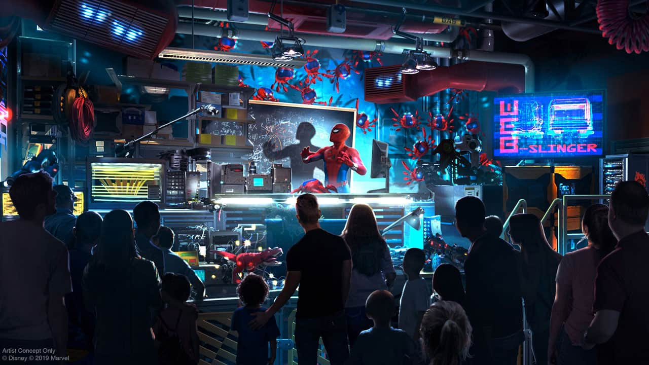 First Look at Actor Tom Holland as Peter Parker in WEB SLINGERS: A Spider-Man Adventure Coming to Avengers Campus at Disneyland Resort