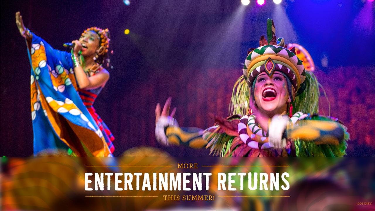 Entertainment returning to Disney's Animal Kingdom. Photo courtesy Disney Parks.