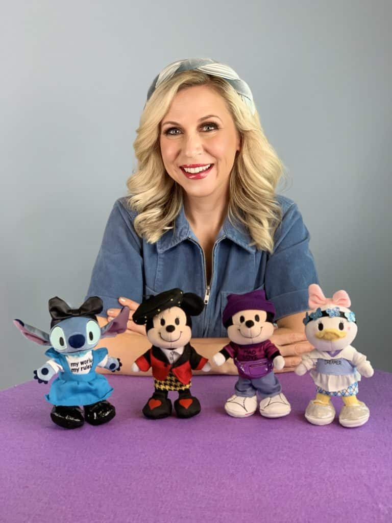 Ashley Eckstein with Disney nuiMOs plush