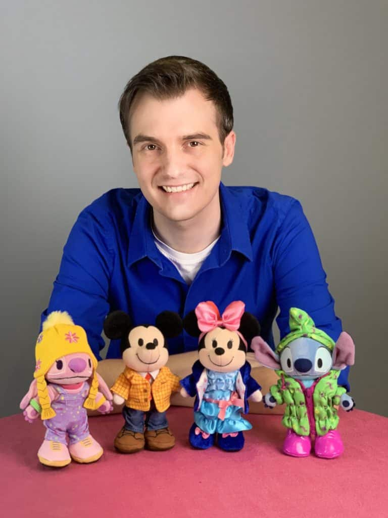 Disney Artist Wes Taylor with Disney nuiMOs plush