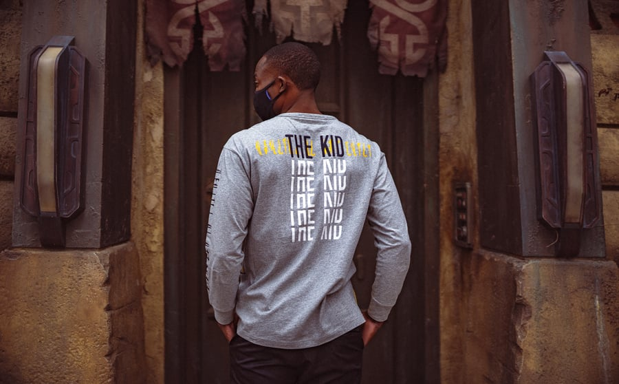All-New Streetwear Collection Inspired by the Child: heather gray long-sleeve t-shirt - back