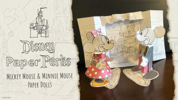 Mickey Mouse and Minnie Mouse Paper Dolls