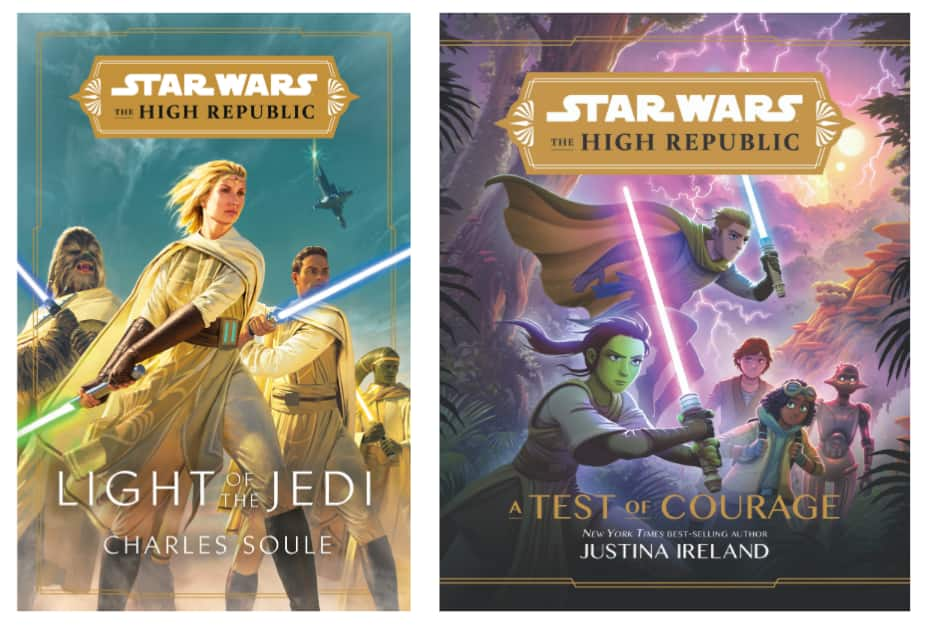 Light of the Jedi and A Test of Courage book covers
