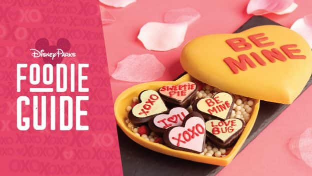 Disney Parks Foodie Guide to Valentine's Season 2021 - Photo featuring Love Note Heart Piñata from The Ganachery at Disney Springs