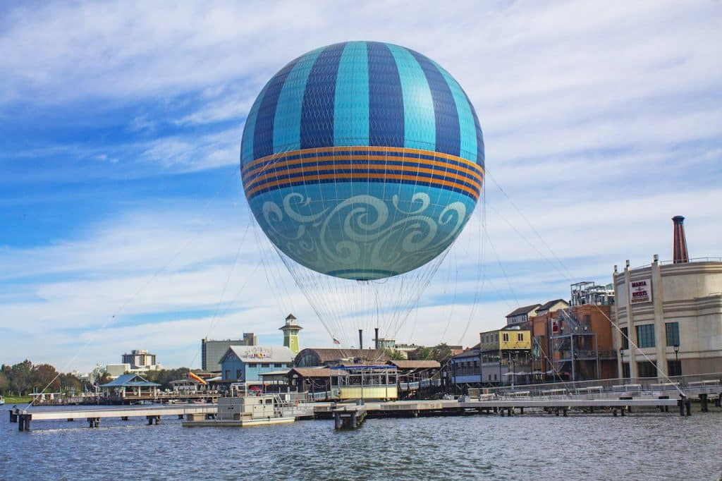 The Aerophile Balloon Ride at Disney Springs
