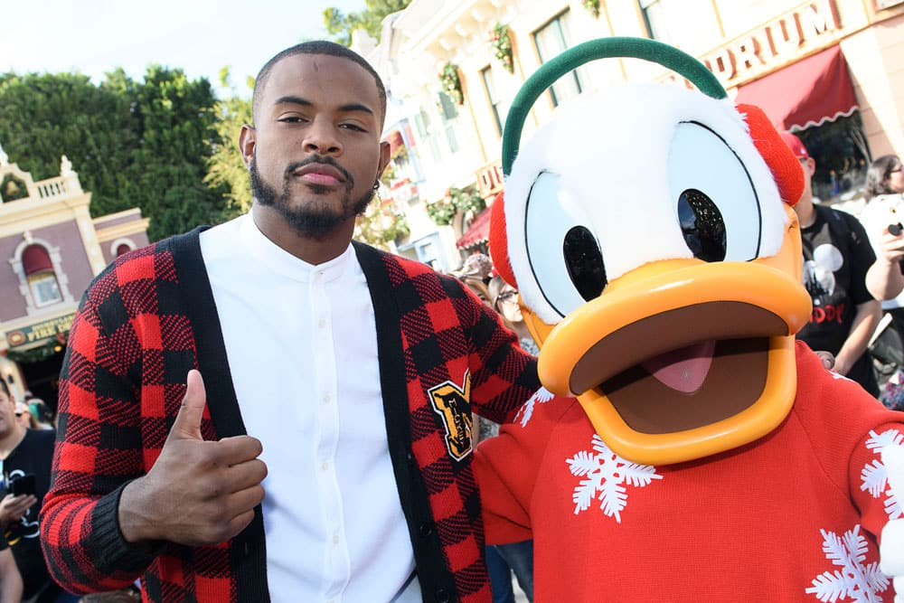 Trevor Jackson with Donald Duck (December 2018)