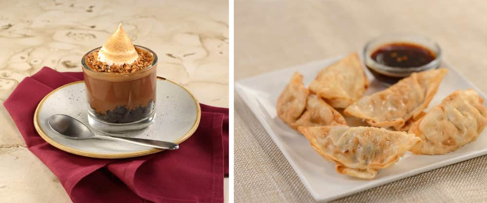 Hazelnut Budino and Pot Stickers