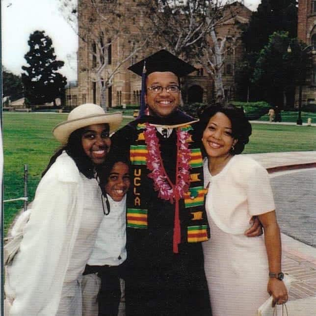 Chris and his siblings at his college graduation