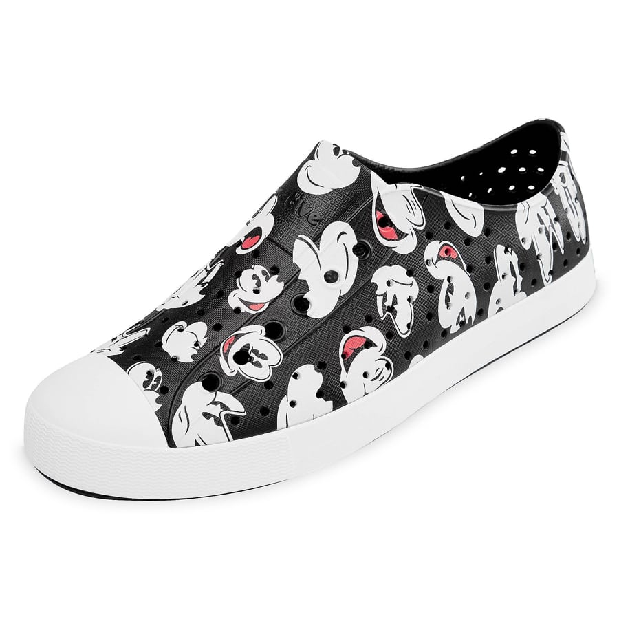 Native Shoes' original EVA all-star in a black Mickey all-over print