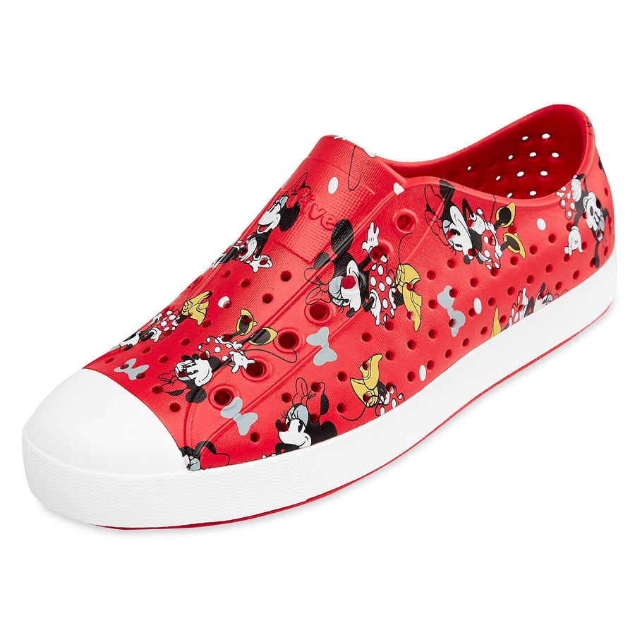Native Shoes' original EVA all-star in red Minnie all-over print