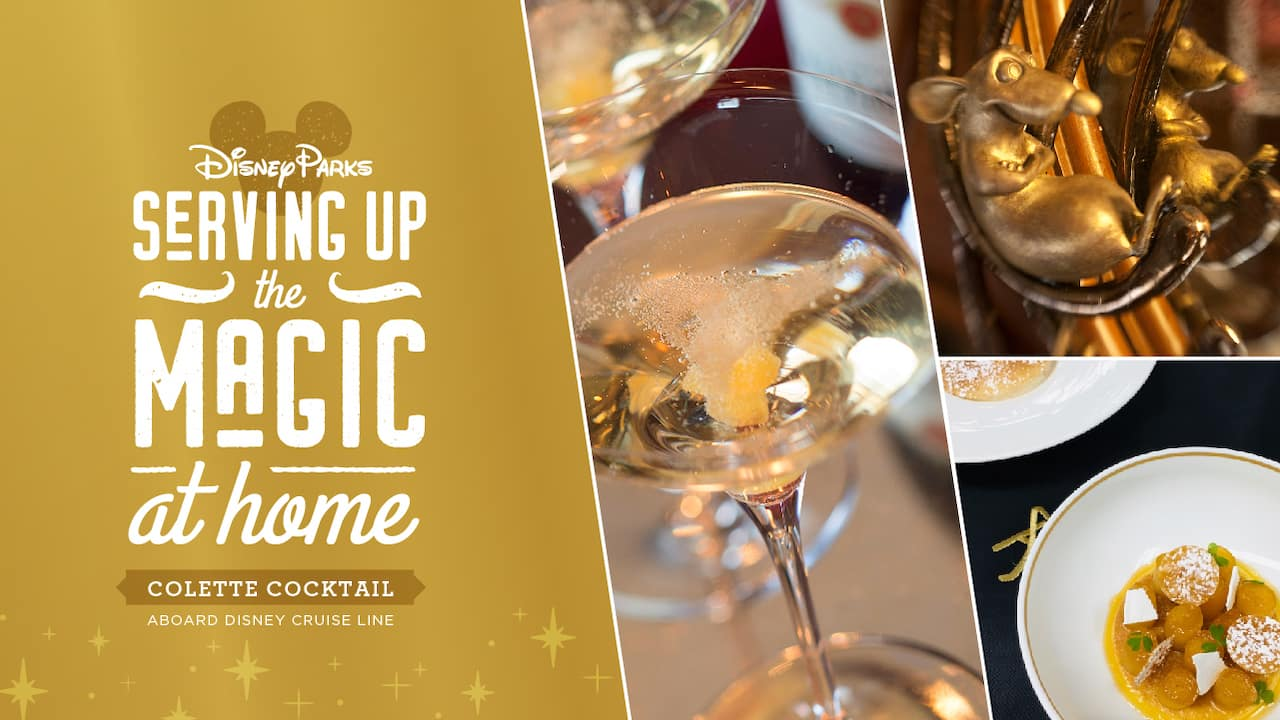 Recipe for the 'Colette' Champagne Cocktail at Disney Cruise Line's Remy