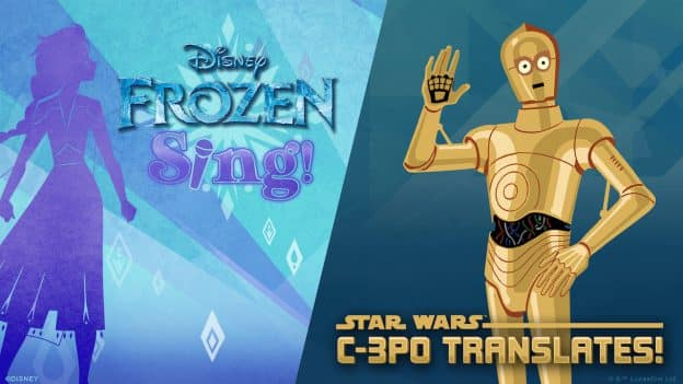 Frozen & Star Wars Voice Skills on Amazon Kids+ graphic
