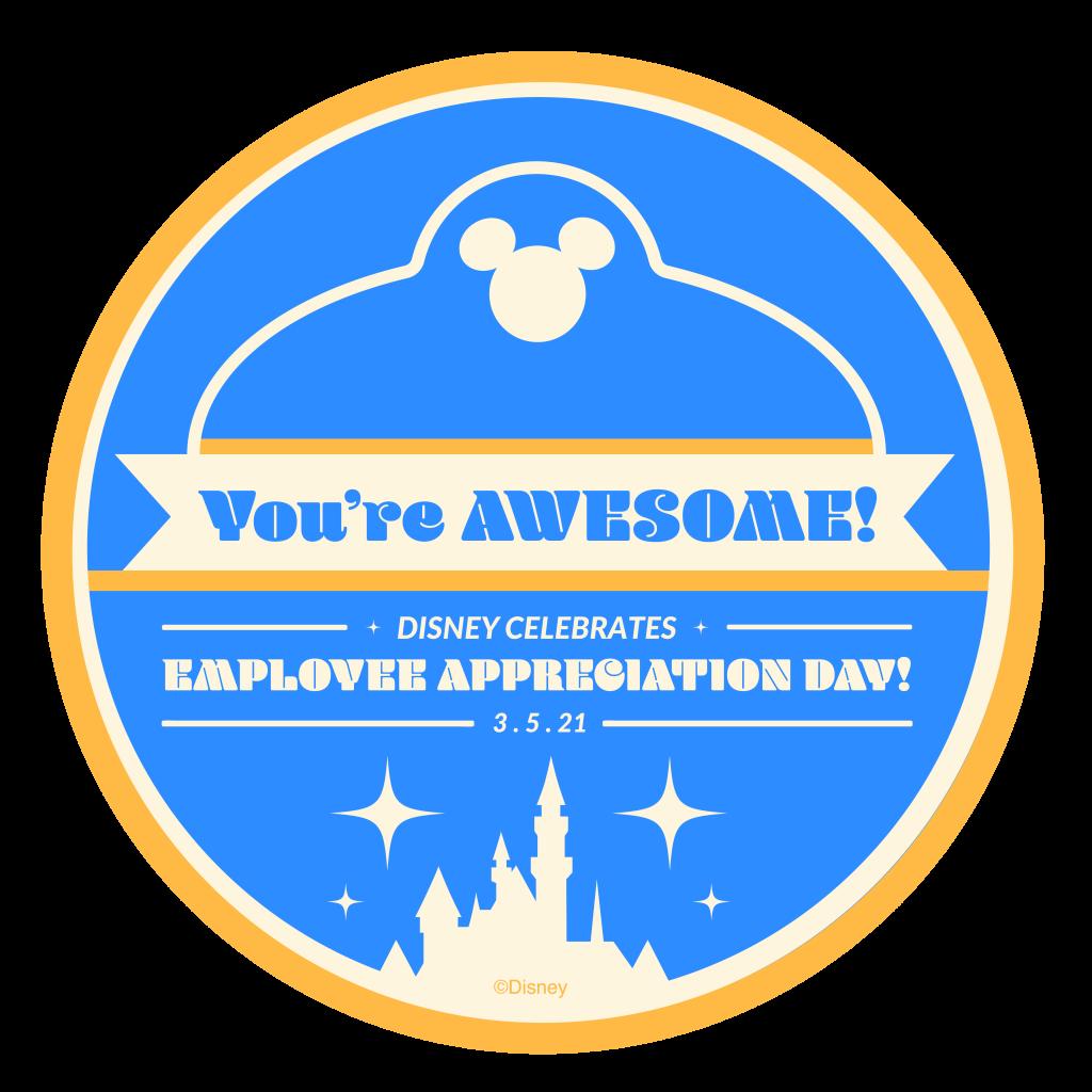 Employee Appreciation Day sticker for Disney cast members