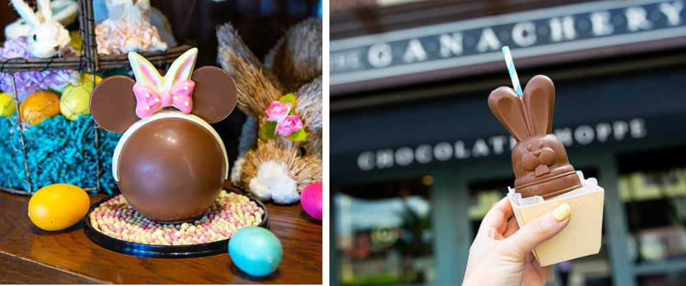 Easter Minnie Bunny Piñata and Boozy Bourbon Chocolate Bunnies available at The Ganachery, Disney Springs